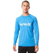 Hurley One And Only Relaxed Ls Mens Rash Vest Light Photo Blue
