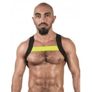 Mister B Urban X Back Club Harness Black/Neon Yellow 820569