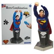 Justice League Theme Superman Block Set for Kids - 3D Puzzle Superman Figure Assembly