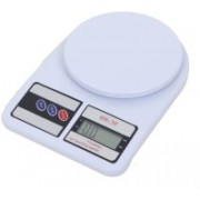 GADGET TREE Compact Scale With Backlight SF 400A 10 Kg With Battery Digital Multi-Purpose Kitchen Weighing Scale - (White) Weighing Scale- (White) Weighing Scale(White)