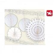 Pegaso set decorazioni 6 pezzi bianco
