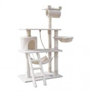 Cat Scratching Post Tree House Condo 141cm - Beige