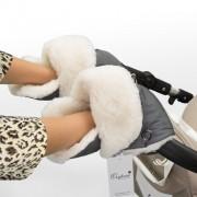 Муфта рукавички для коляски Esspero Christer Натуральная шерсть Grey