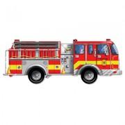 Puzzle de podea gigant Masina de pompieri, Melissa and Doug