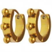 Men Style Punk 316L Gold Stainless Steel Round Hoop Earring For Men And Boy