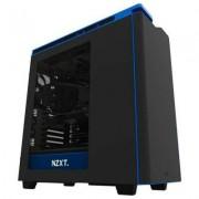 Кутия nzxt h440 black/blue + window mid tower, nzxt-case-h442w-m4