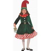 Forum Novelties disfraz de elfo del Lil de Papá Noel para niña, multicolor, pequeño