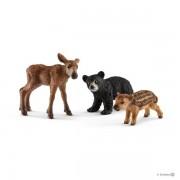 SET FIGURINE SCHLEICH - PUII DE ANIMALE DE PADURE - SL41457 - SCHLEICH