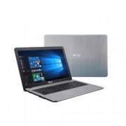 "Лаптоп Asus VivoBook X540YA-XX008T (сребрист), четириядрен AMD E2-7110 1.8 GHz, 15.6"" (39.62 cm) HD Glare LED-Backlit дисплей(HDMI), 4GB DDR3L, 500GB HDD, 1x Type C, Windows 10, 2kg"