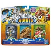 Set 3 Figurine Skylanders Giants Chop Chop, Golden Dragonefire Cannon, Shroomboom