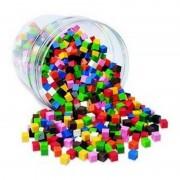 Cuburi multicolore 1cm