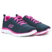 Skechers Running Shoes For Women(Navy, Pink)