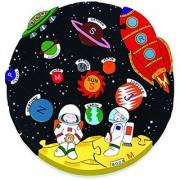 Wooden Space Solar System Alphabet Jigsaw