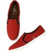 Evolite Red & White Slip on Sneakers Stylish Loafer for Men & Boys