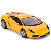 Rastar 1:40 Diecast Lamborghini Gallardo Car Model with Detailed Exterior, Yellow, TOYSHINE - 71