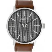 OOZOO Timepieces Horloge Bruin/Donker Grijs/Zilver C10039