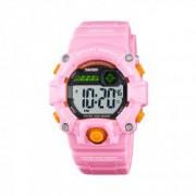 Ceas de copii sport SKMEI 1484 waterproof 5ATM cronograf alarma data si iluminare cadran roz