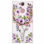 Luminous Sony Xperia XA2 TPU Case - Deer with Flowers