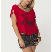 utcai póló női gyermek - REAPER - METAL MULISHA - M24703203.01_RED