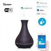 Wifi inteligentný ultrazvukový aróma difuzér tmavé drevo