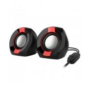 Astrum SU105 fekete-piros 2.0 csatornás 3,5MM multimédia hangszóró USB-s áramellátással, hangerőszabályozóval, prémium hangzással 2 X 3W