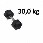 Master Fitness Gummi / Kromhantel HEX Master Fitness 30,0 kg