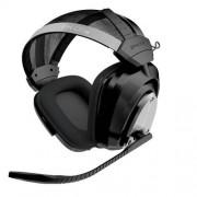 Gioteck EX-05s Auriculares con micrófono (PC/Gaming, Binaural, Head-Band, Black, Silver, RF Wireless, Wireless)