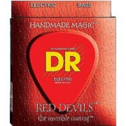 DR Strings Red Devils - Extra-Life Red Coated 6 String Bass 30-125