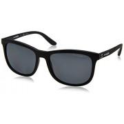 Arnette AN4240 Chenga anteojos de sol cuadradas para hombre, mate, Negro mate/Gris polarizado., 56 mm