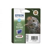 Epson T0795 - 11 ml - cyan clair - originale - blister - cartouche d'encre - pour Stylus Photo 1500, P50, PX650, PX660, PX710, PX720, PX730, PX800, PX810, PX820, PX830