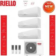 Riello Climatizzatore Condizionatore Riello Inverter Trial Split Aaria Plus 7000+9000+9000 Btu R-32 Con Aaria Multi 370 P Wi-Fi Optional New 2019 - 7+9+9