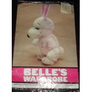 "Rare! Peanuts Snoopy Sister Belle Belles Wardrobe For 15"" Plush Doll Easter Bunny Beagle Outfit"