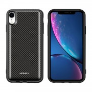 MOMAX Q.Power Pack for iPhone XR 5000mAh Magnetic Wireless Battery Charger Case - Carbon Fiber Texture