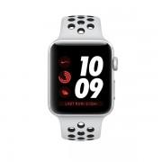 Smartwatch Apple Watch Nike+ GPS, 38mm, Silver si bratara Sport Pure Platinum Black