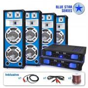 Electronic-Star PA комплект BLUE STAR серии 'BASSVETERAN QUADRO' 3200 W (BS-BassveteranQuadro)