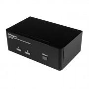STARTECH.COM Startech Switch KVM a 2 porte DisplayPort per doppio Monitor - 4k 60hz
