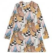Mini Rodini Mini Rodini Dashing Dogs Print Collar Dress 80/86 cm