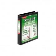 "Xtralife Clearvue Non-Stick Locking Slant-D Binder, 1"" Cap, 11 X 8 1/2, Black"