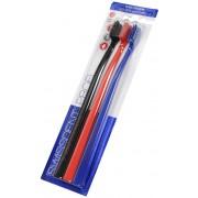 Swissdent Periuța de dinți Culori Soft-Medium 2 + 1 GRATUIT (černá + červená + modrá)