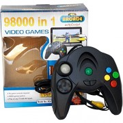 JMK High Quality New 98000 In 1 Video Game System, Black for kids+ ( free 1 water game mobile look ) OFFER
