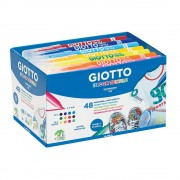 Giotto Fabric Pens - 48 Giotto fabric pens. 12 colours. Permanent ink washable up to 40°C