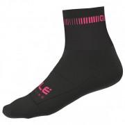 Alé Logo Q-Skin Socks Calze da ciclismo (44/47, nero)
