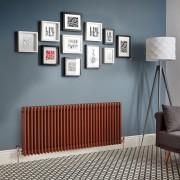 HudsonReed Radiateur rétro horizontal à 3 colonnes – Cuivre métallisé – Choix de tailles - Windsor