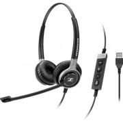 Sennheiser SC 660 USB ML Stereofonico Padiglione auricolare Nero, Argento
