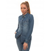 Guess Camicia da donna in jeans CAMICIA DENIM STRASS Denim medio Cotone Donna