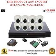 Cp Plus 1.3 MP HD 8CH DVR + Cp plus HD DOME IR CCTV Camera 8Pcs + 1TB HDD + CCTV COMBO