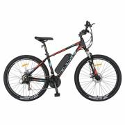 Bicicleta electrica MTB (E-BIKE) Carpat 27.5 I1008E cadru aluminiu 21 viteze negrurosu