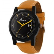 Jack klein Stylish Round Dial Orange Strap Quartz Analogue Wrist Watch