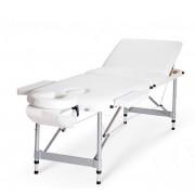Masa de masaj pliabila profesionala - Aluminiu 3 Alb