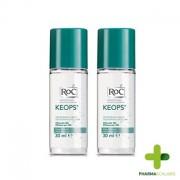 Roc Keops Desodorizante. Roll-On Transpiração Intensa 2x30ml